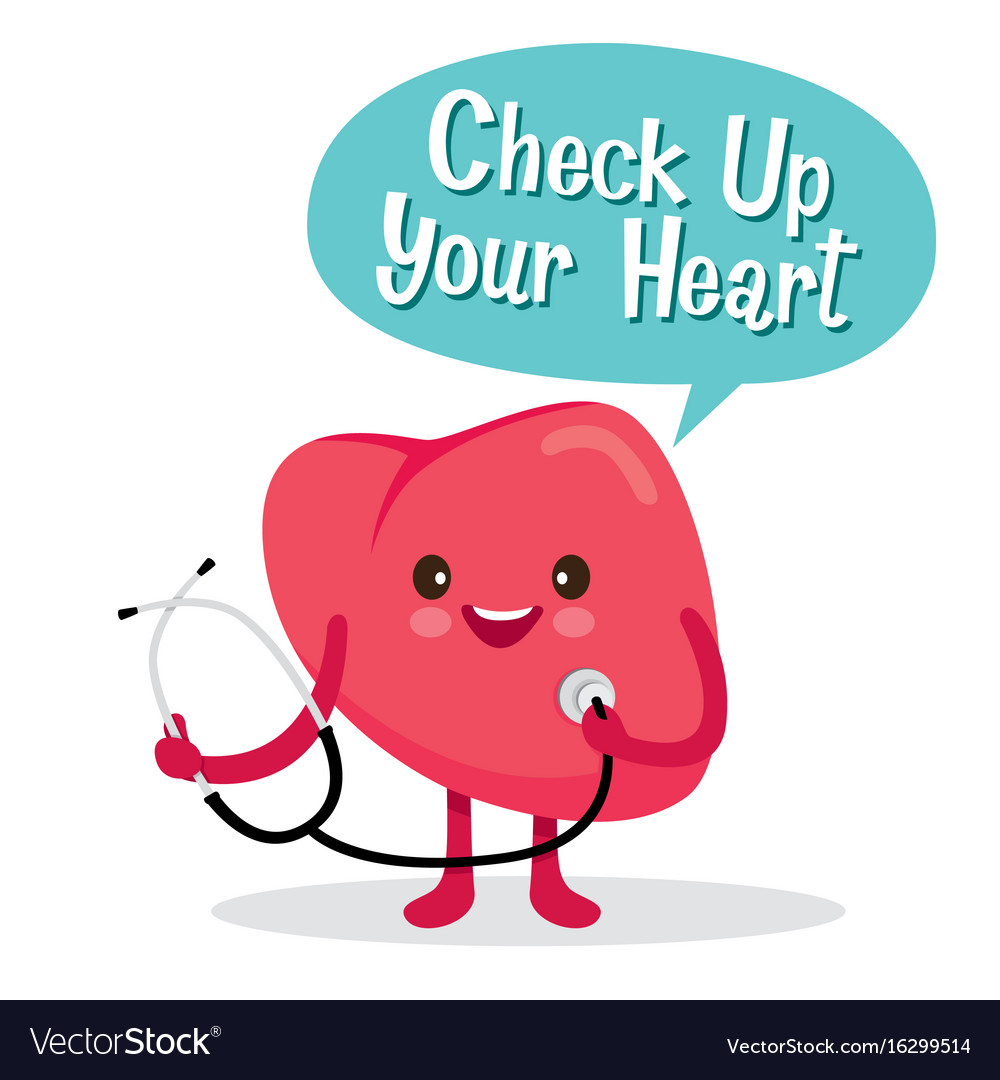Heart human internal organ cartoon character vector image