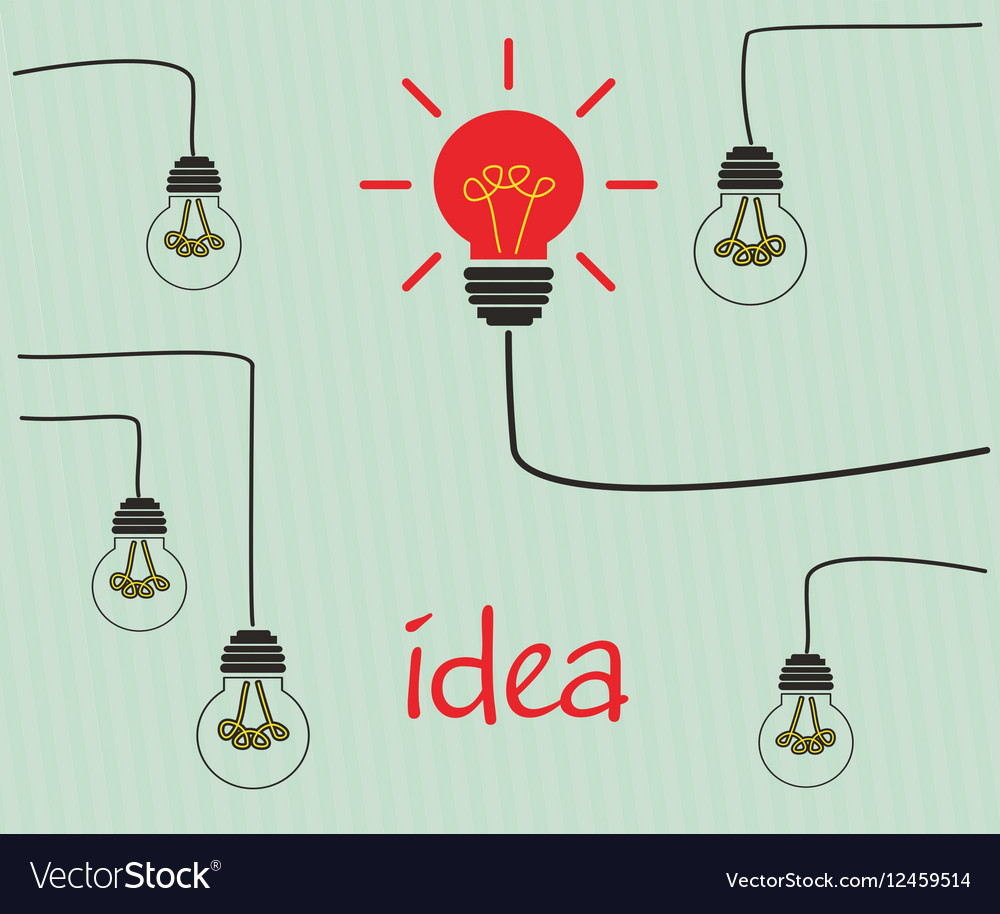 Incandescent bulbs on the wires vector image