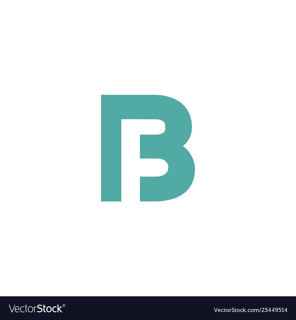 Letter B Creative Logo Template Vector Image