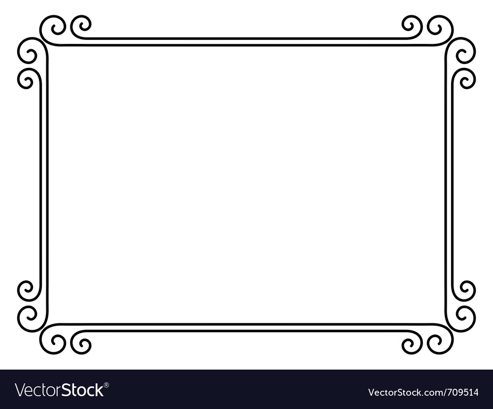 Ornamental decorative frame Royalty Free Vector Image