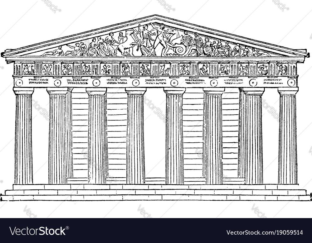 Parthenon restored highest part of the acropolis