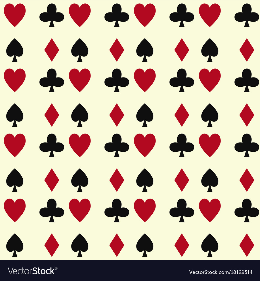 Poker cards casino gambling seamless pattern
