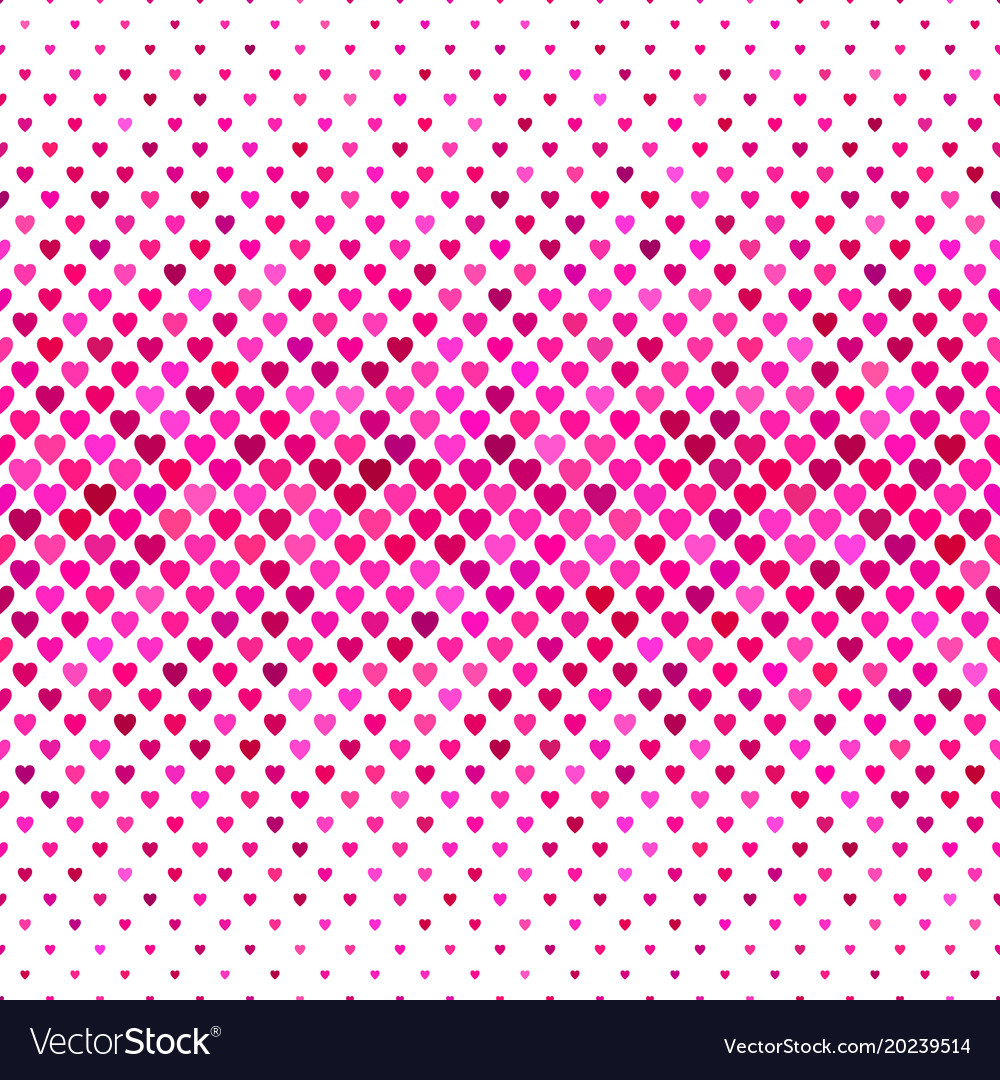 Repeating pink heart pattern background design vector image