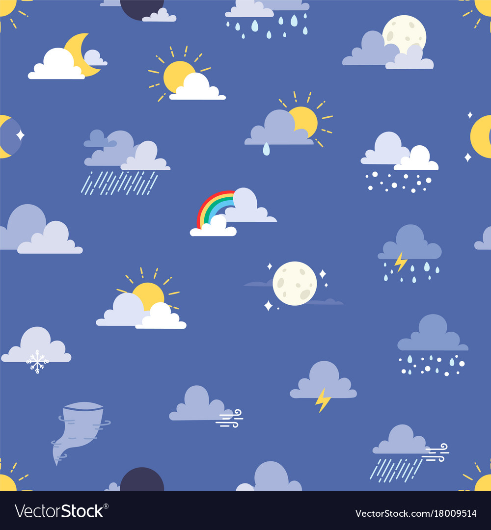 Set of weather icons sun