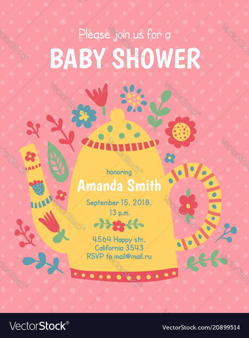 Teapot baby shower
