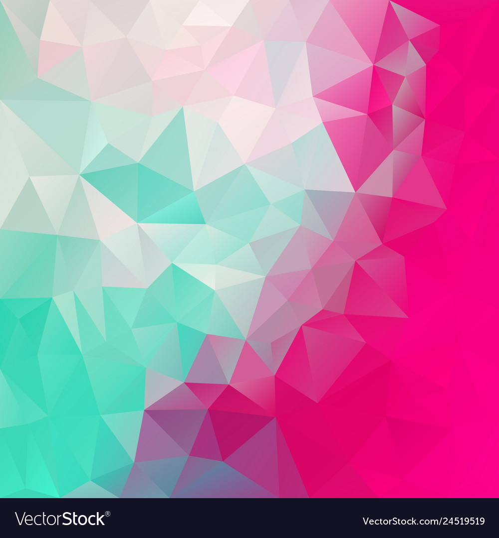 Abstract Polygon Square Background Mint Green Pink
