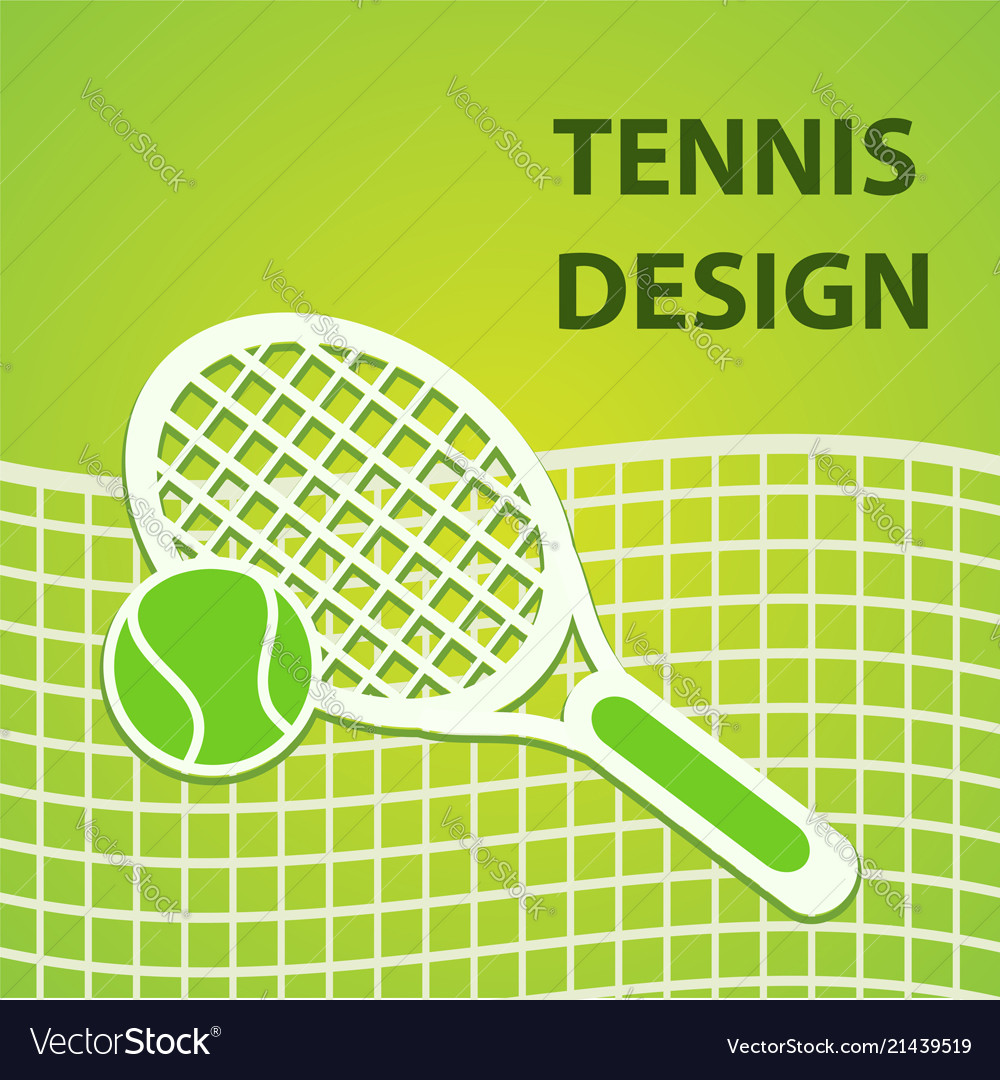 Green tennis sport design eps10