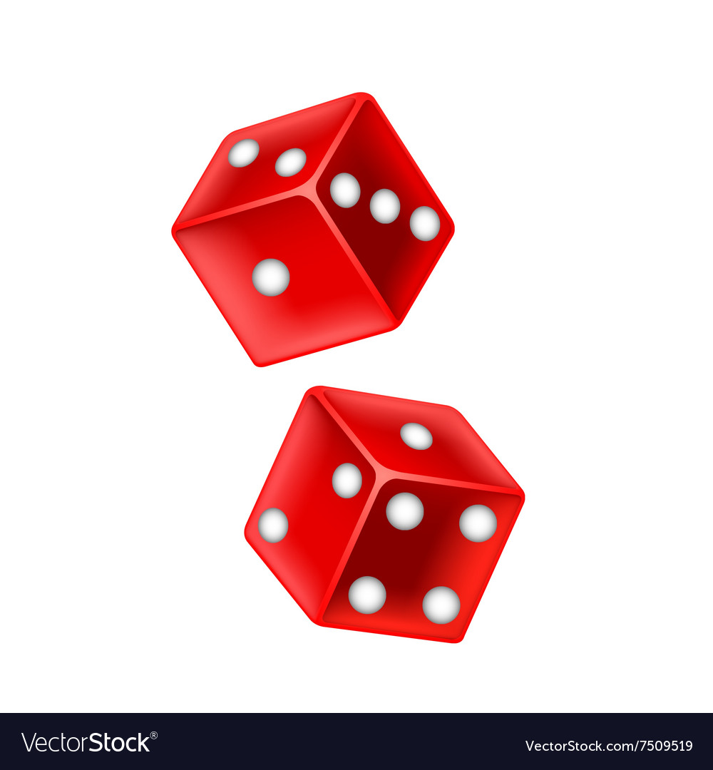 Lucky dice isolated on white