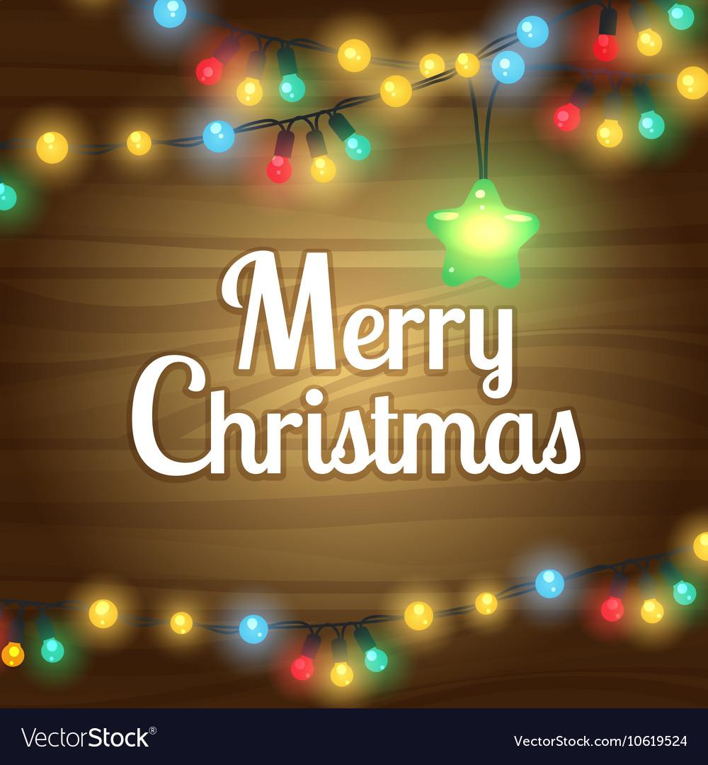 Christmas lights border frame vector image