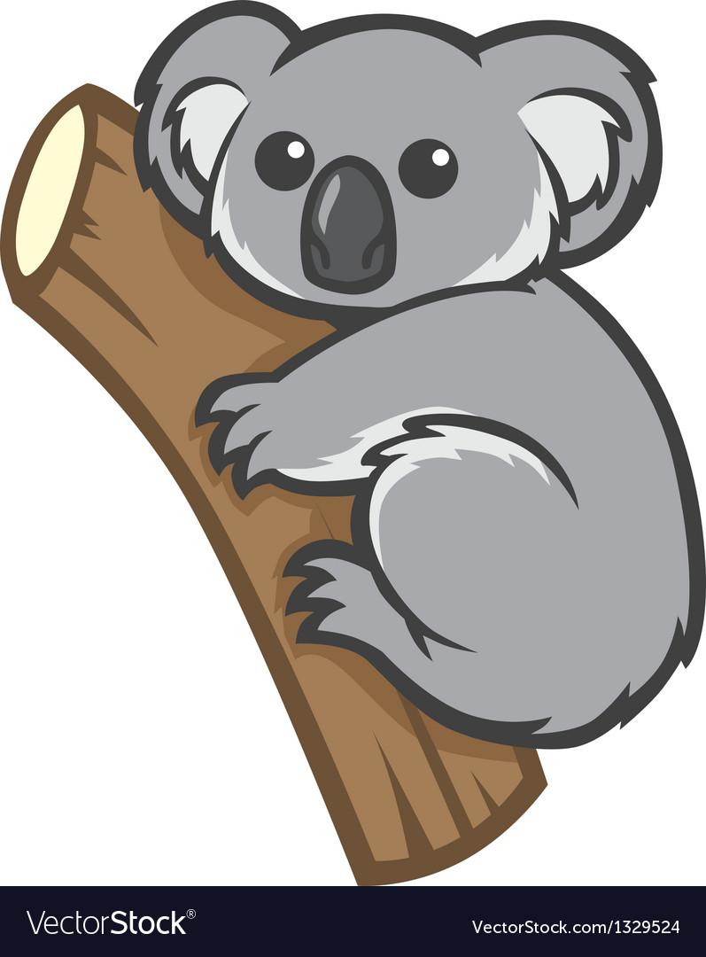 Cute Koala On A Tree Royalty Free Vector Image