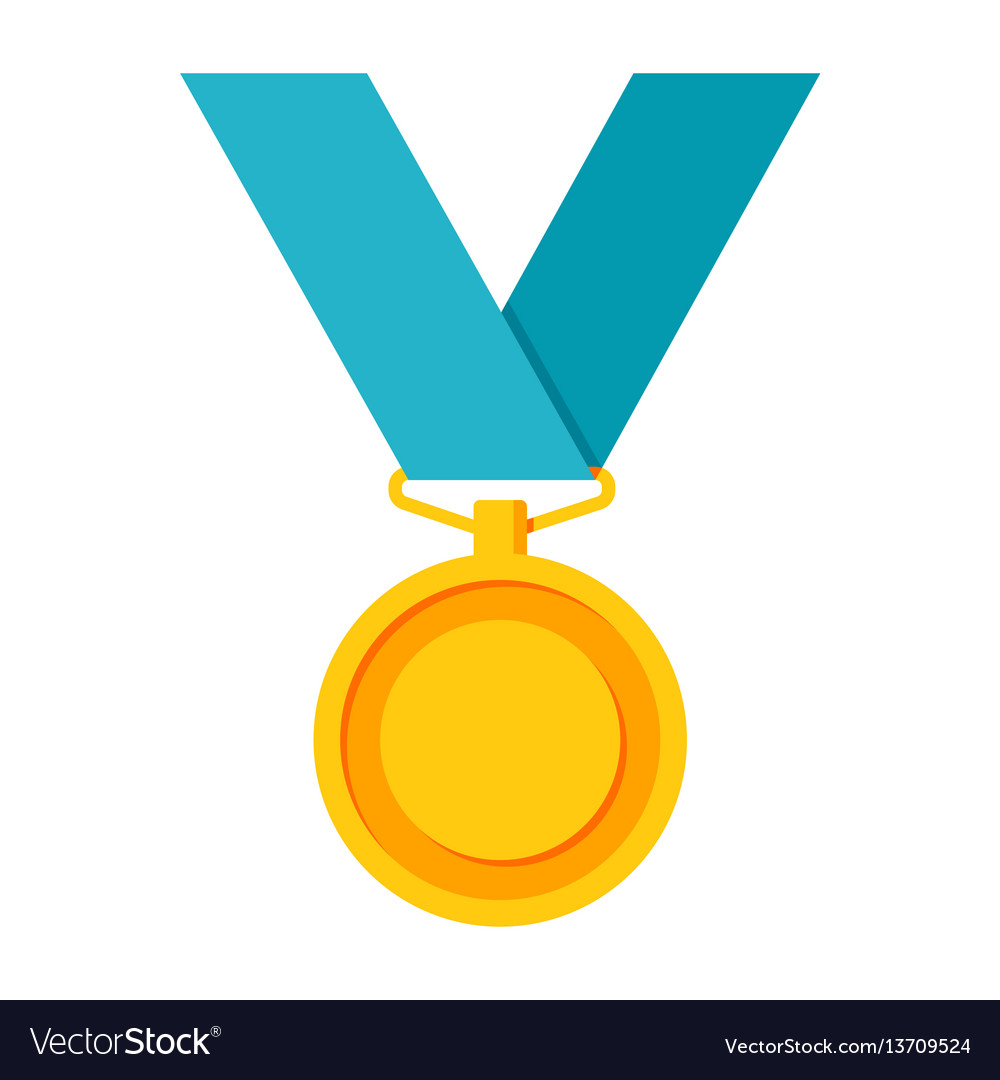 gold medal icon royalty free vector image vectorstock