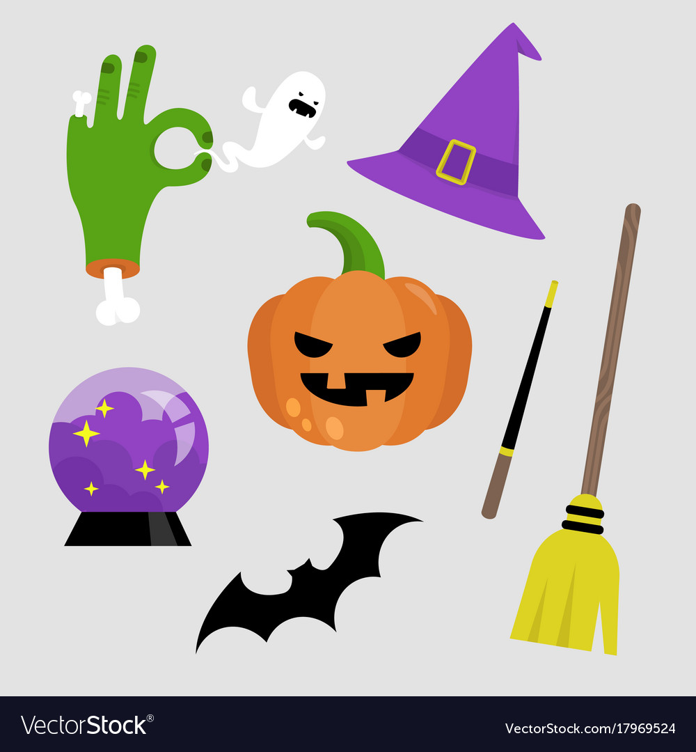Halloween sticker pack set of halloween icons