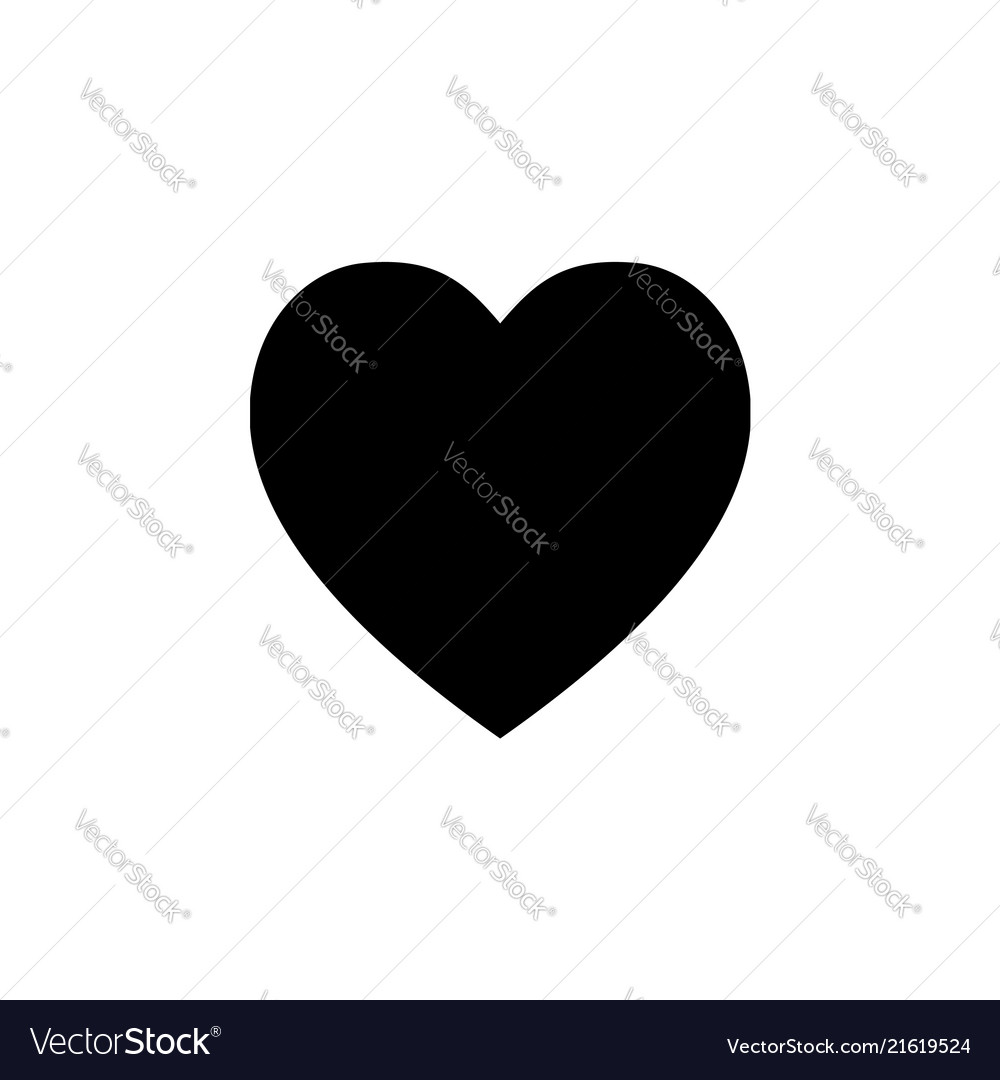 Heart icon black on white vector image