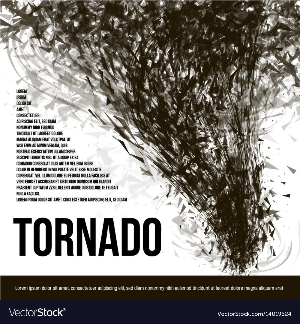 Isolated abstract black color tornado of dust in