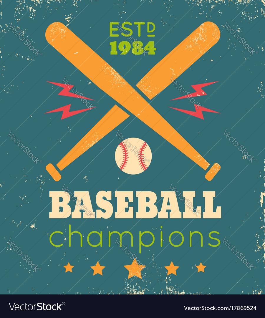 Retro poster for baseball