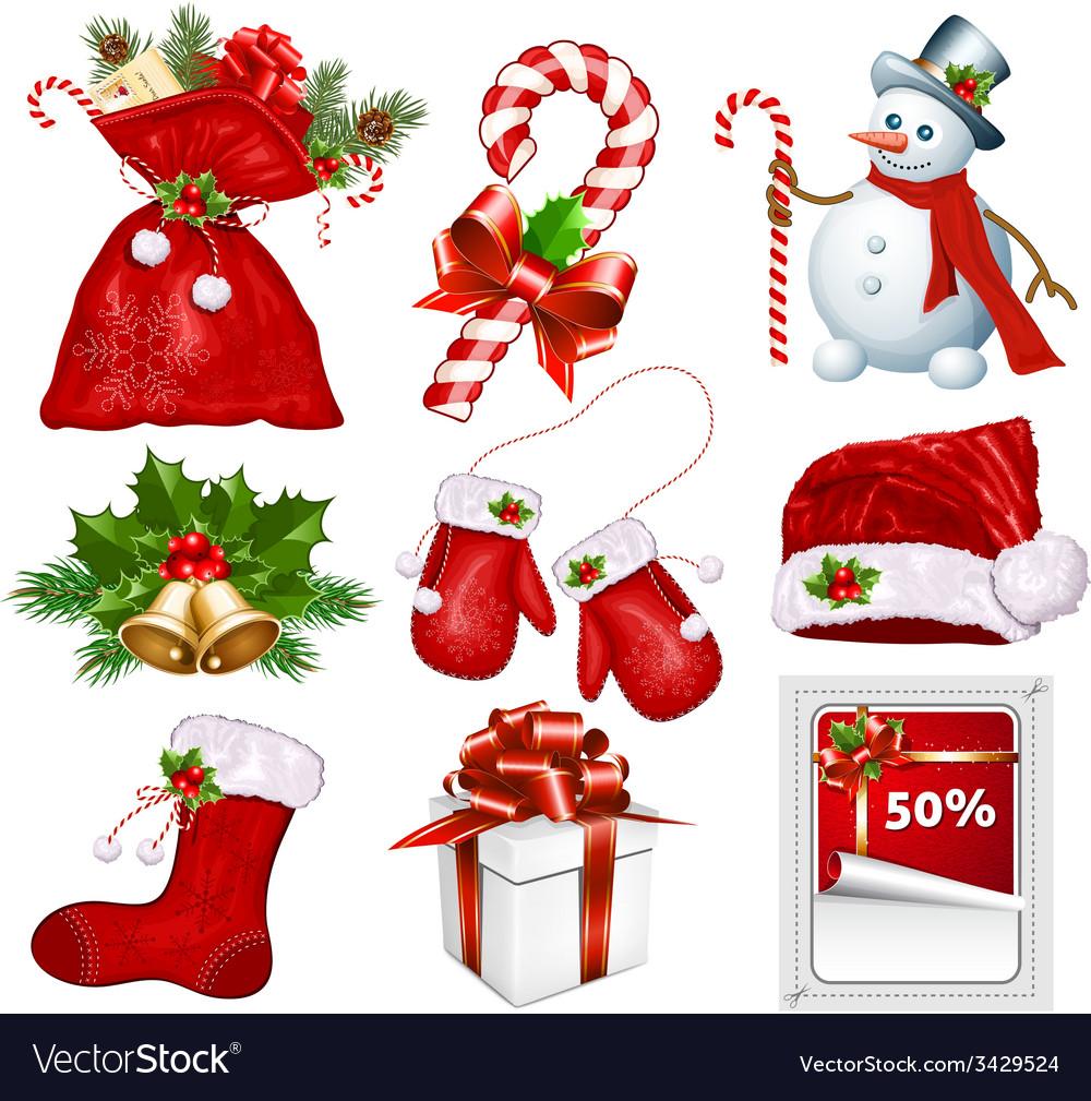Symbols Of Christmas.Traditional Christmas Symbols