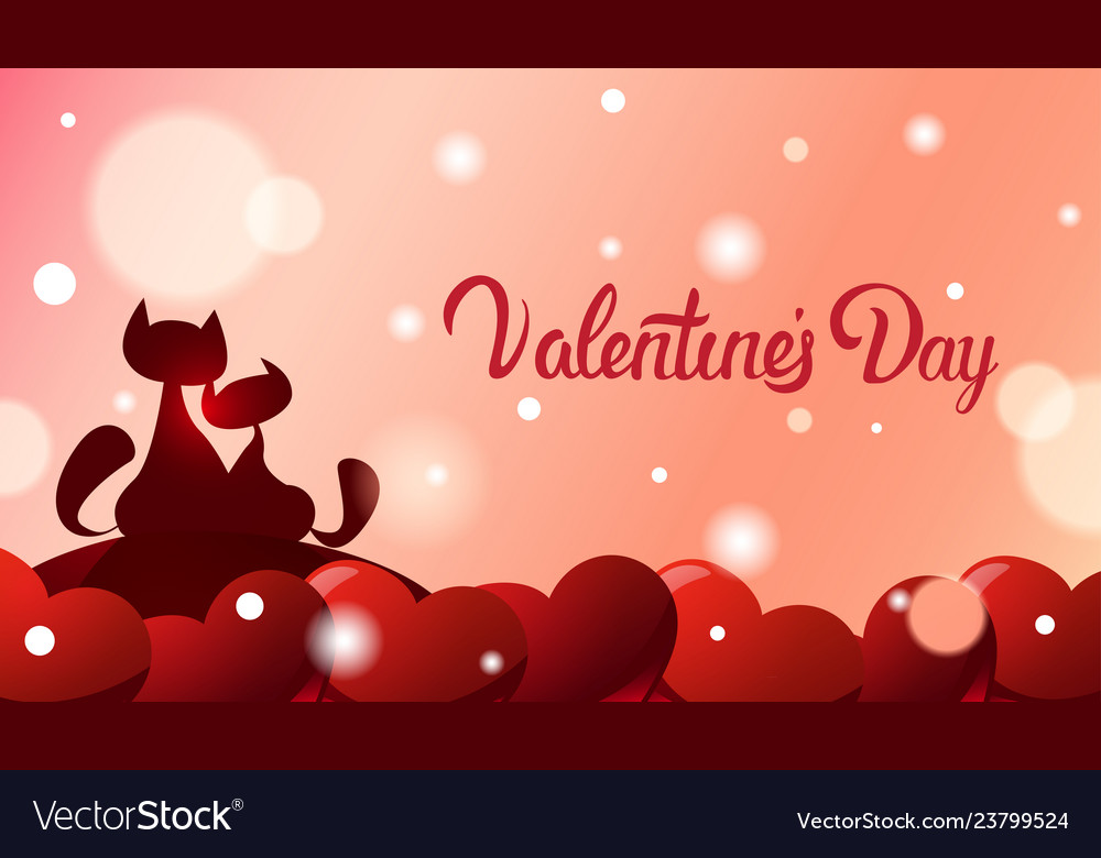 Valentines day greeting card background two