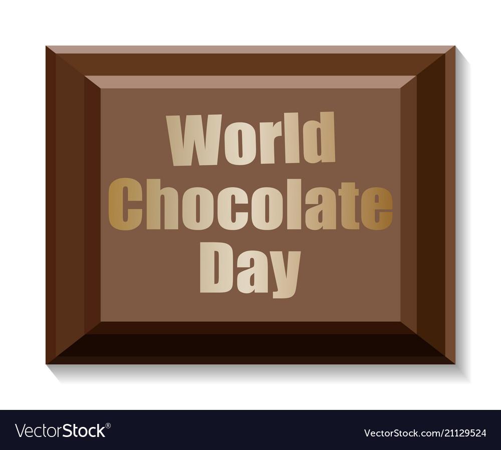 World chocolate day card