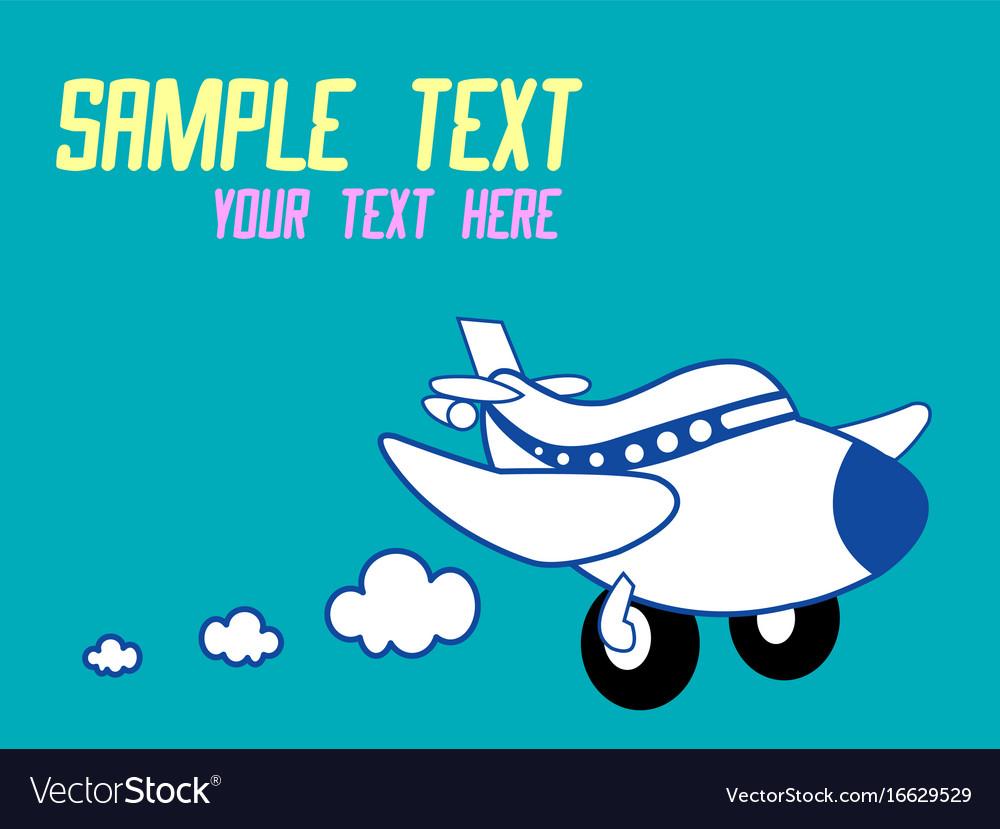 A cute cartoon airplane