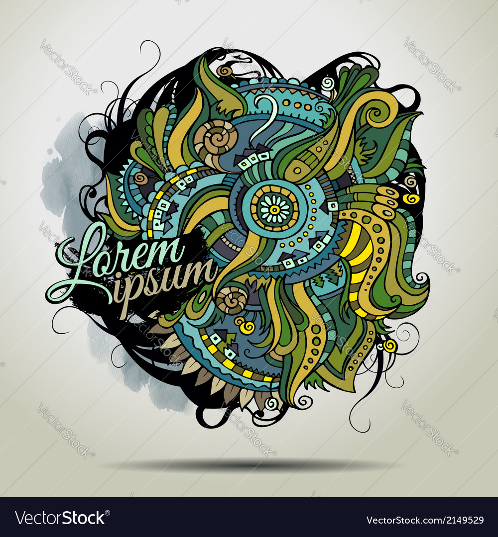 Abstract decorative doodles background