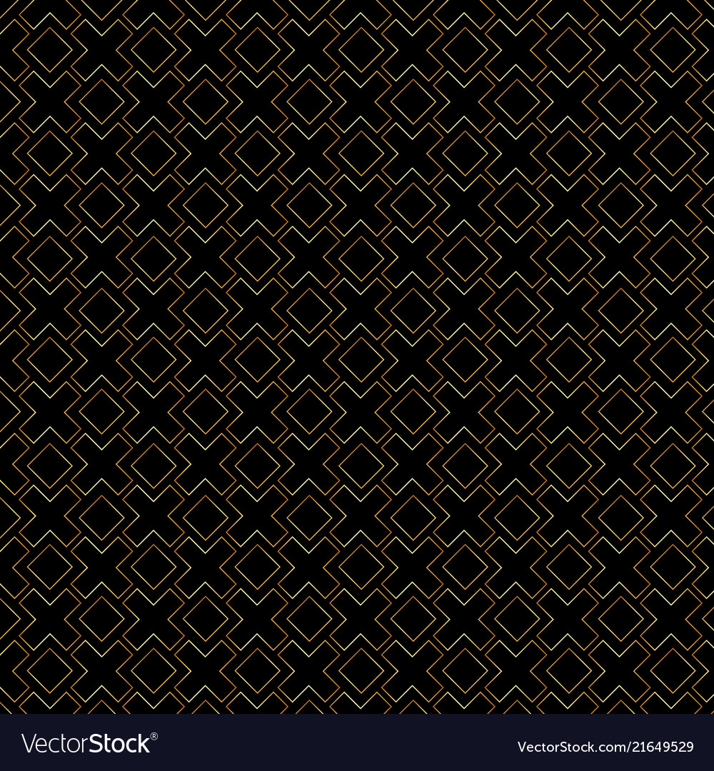 Abstract gold geometric lines pattern on black