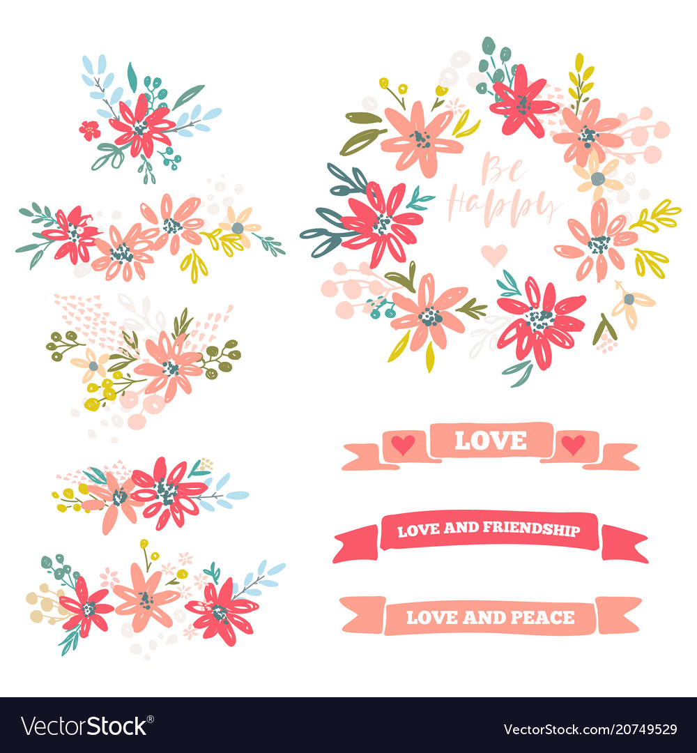 Collection of flower dividers