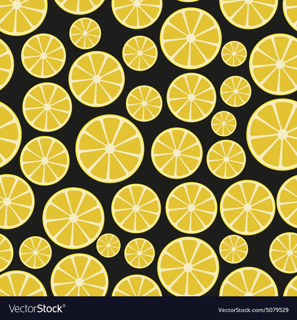 Colorful sliced lemon fruits seamless pattern vector image
