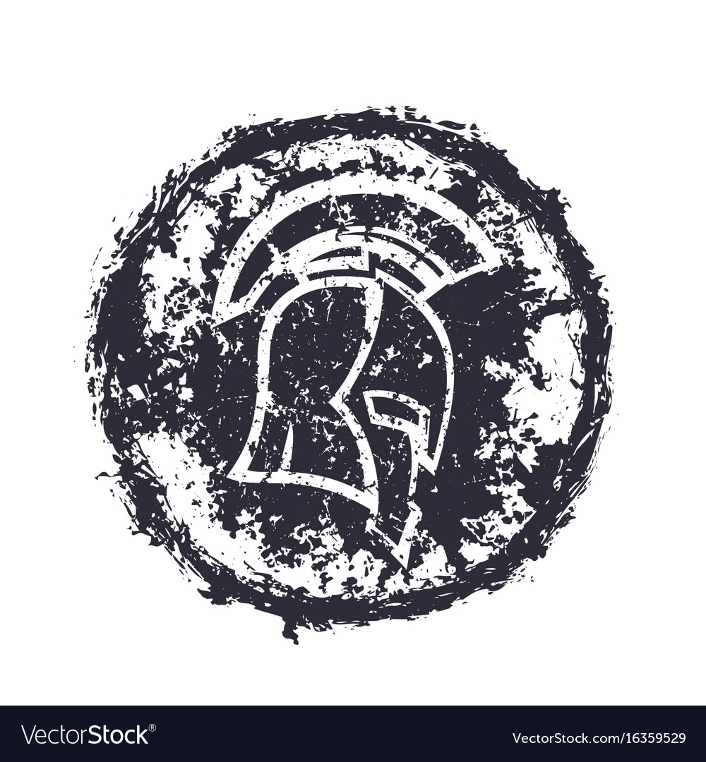 Grunge spartan helmet t-shirt print