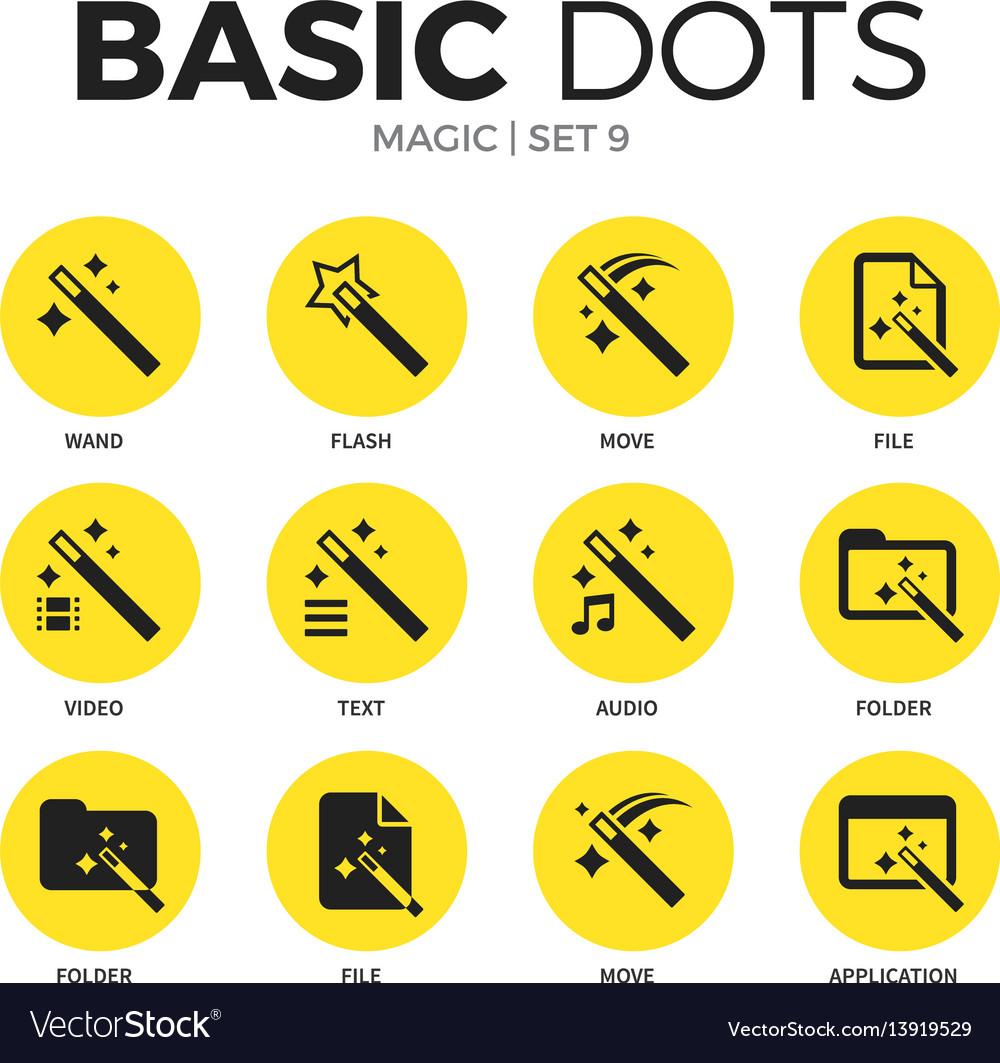 Magic flat icons set