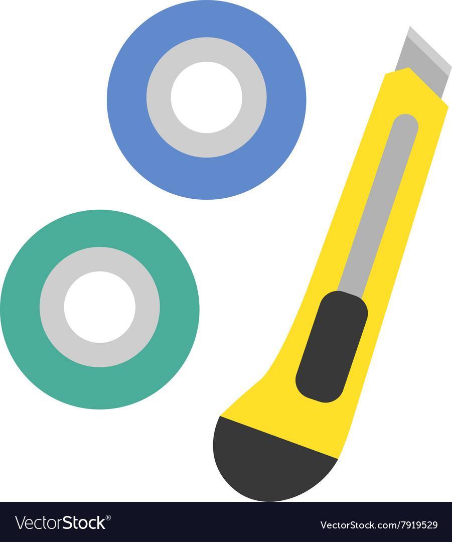 School tools supplies assortment individually