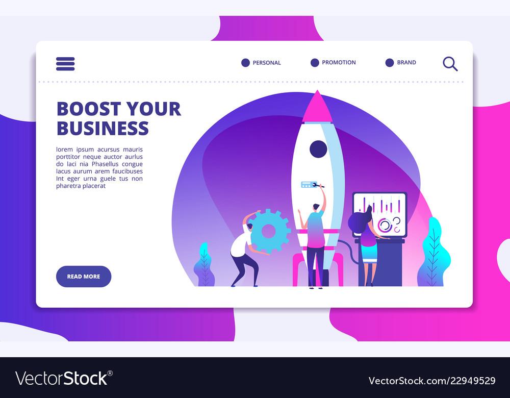Startup website landing page people launching