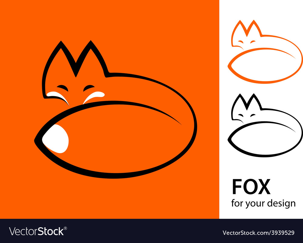 Stylized fox vector image