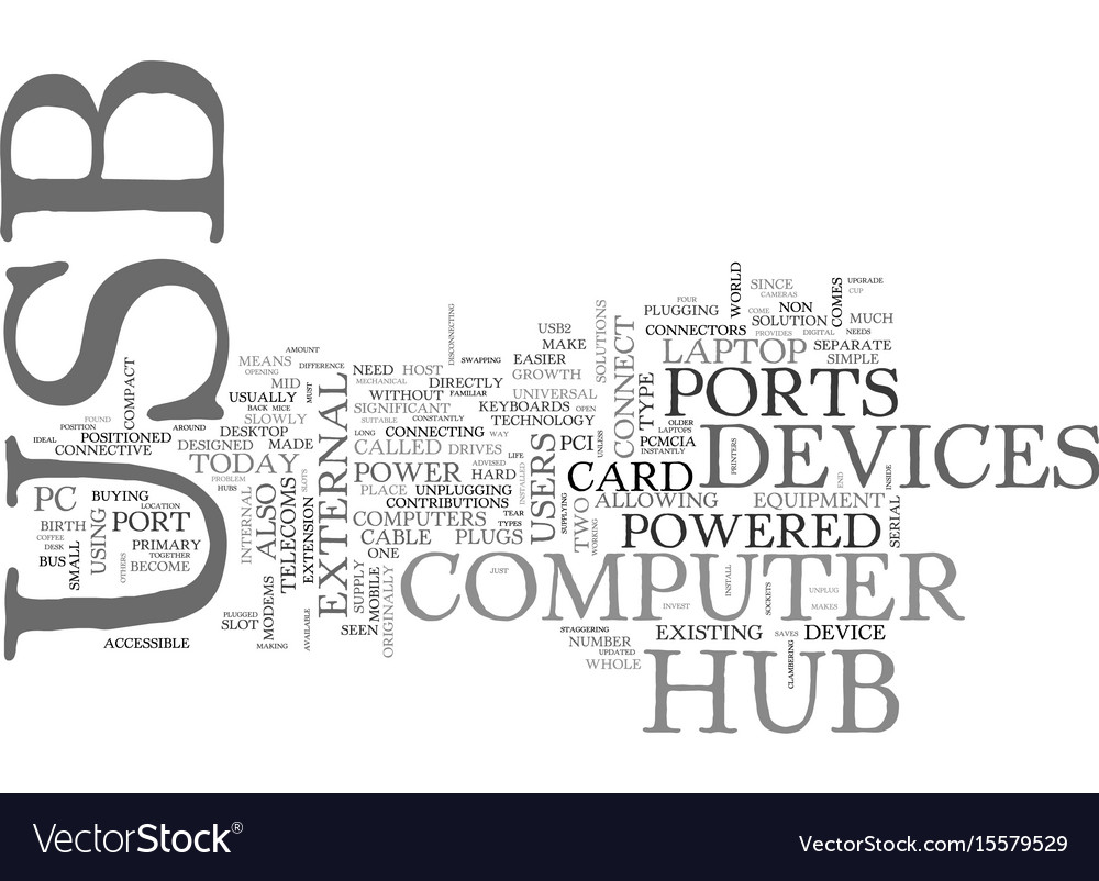 What s a usb hub text word cloud concept