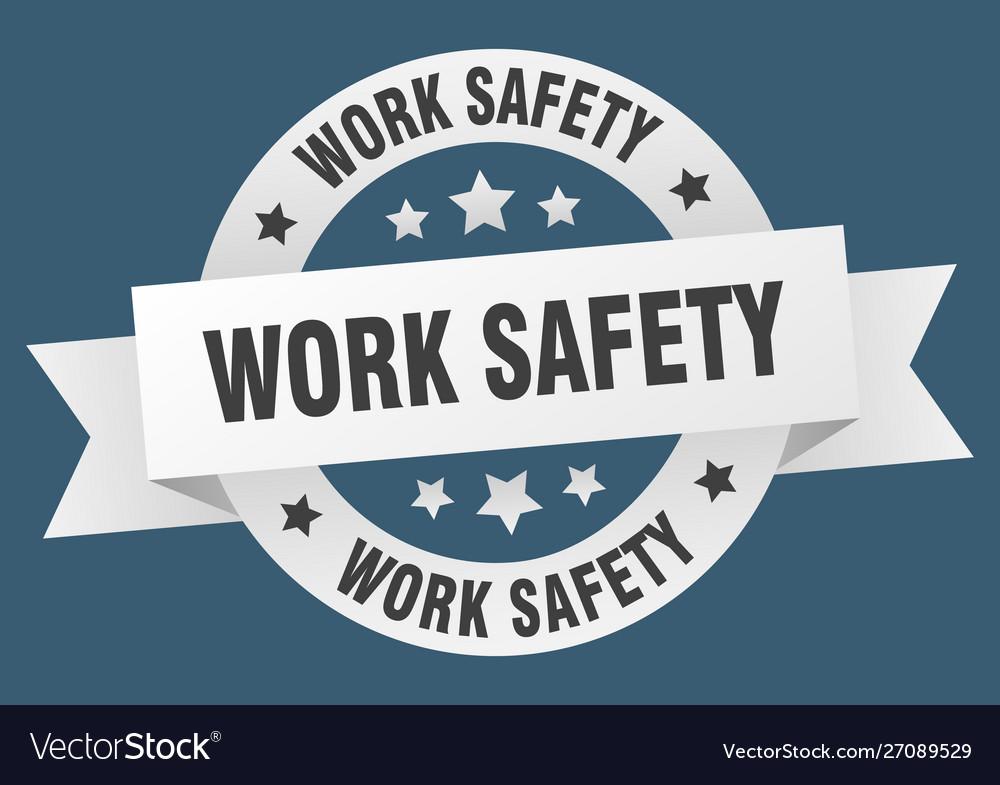 Work safety ribbon work safety round white sign