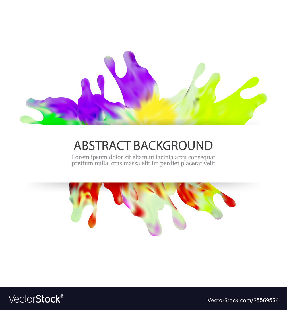 Colorful splash paint decorative design background