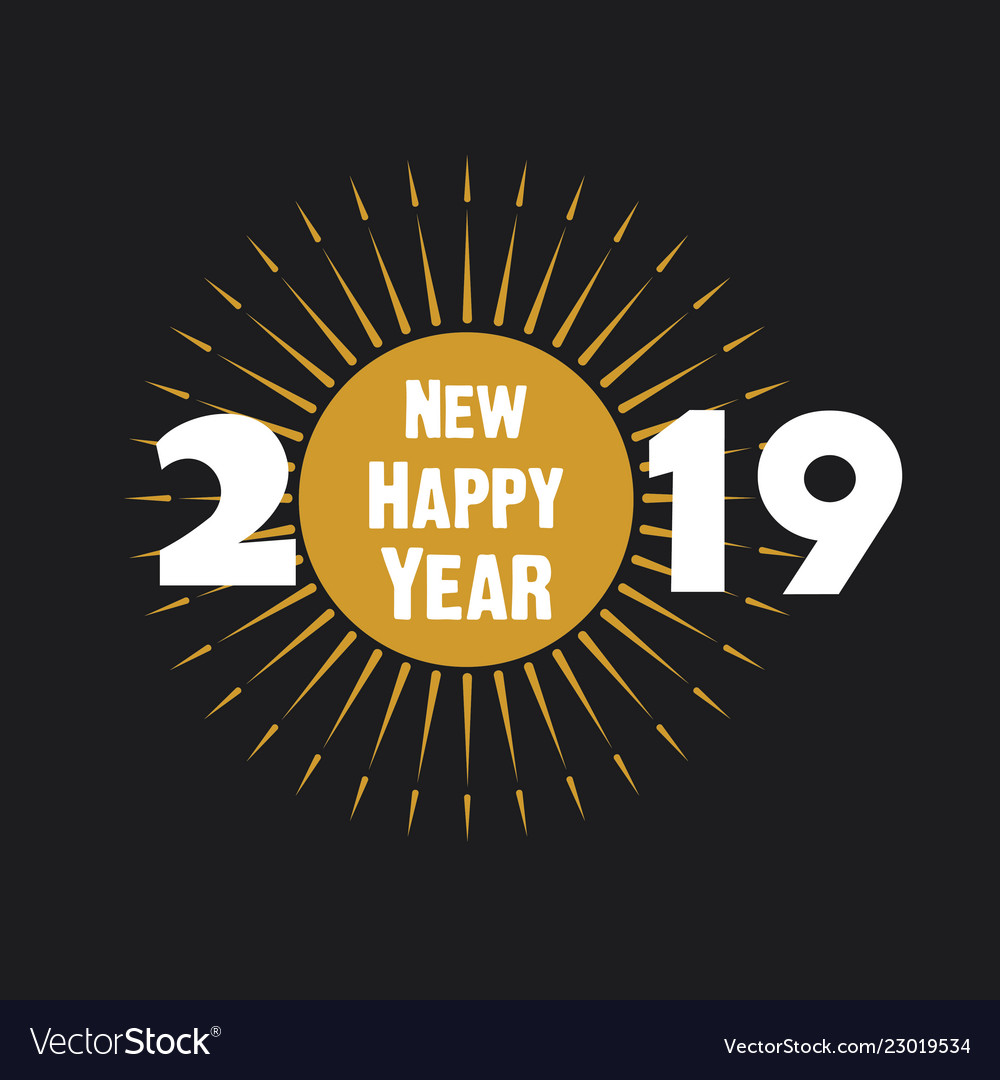 Creative new year 2019 poster design