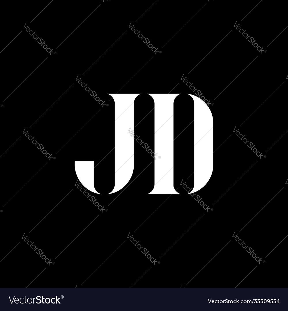 jd j d letter logo design initial letter jd vector image vectorstock