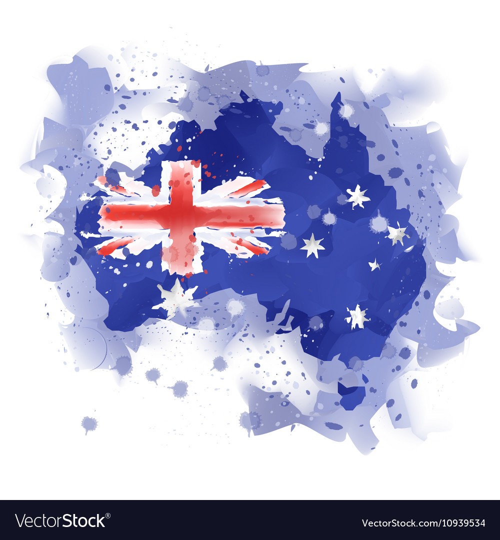 Map of australia map concept Watercolor pai