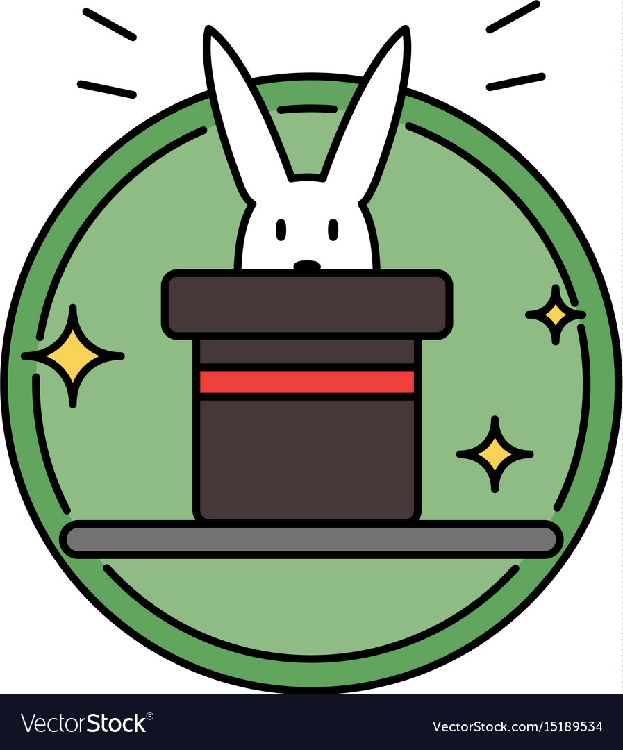 Rabbit inside magician hat funny magic trick