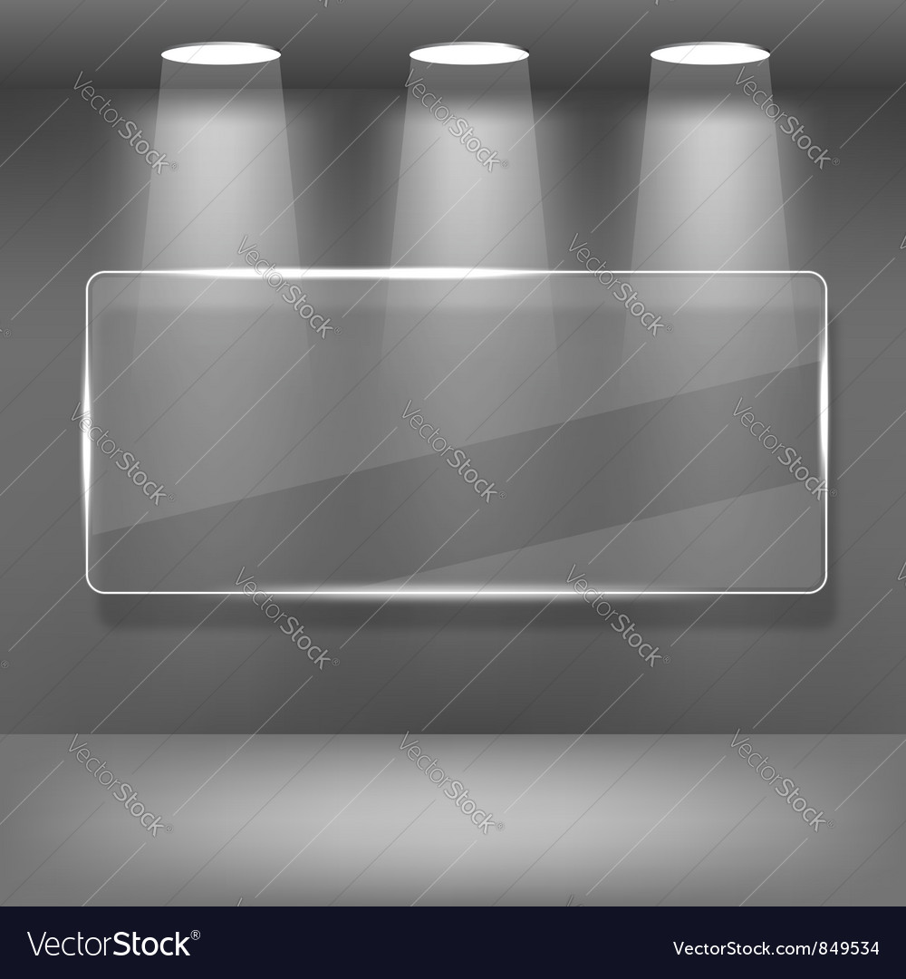 Showcase Gallery with Glass Frame vector image