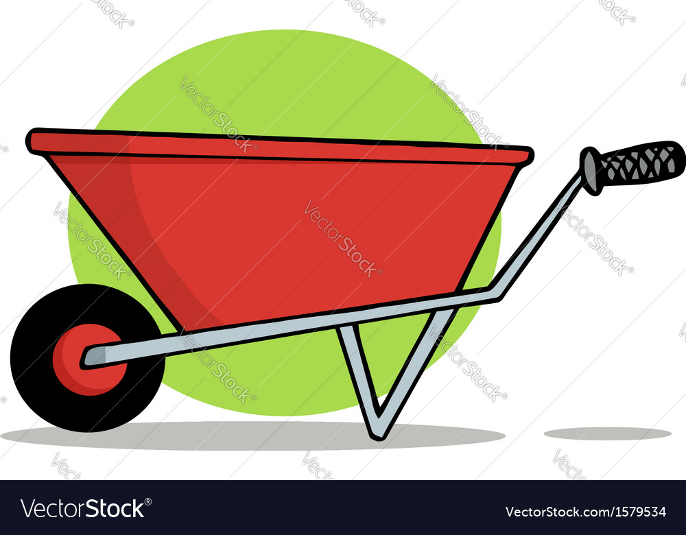 Wheel barrow cartoon