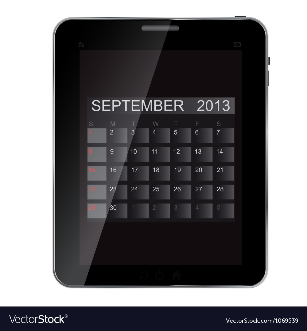 2013 year calendar on abstract design Tablet