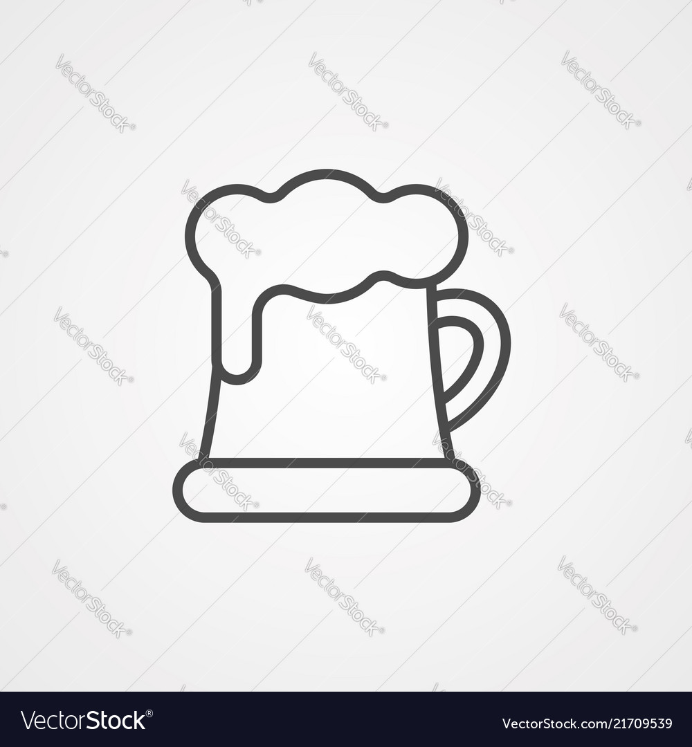Beer icon sign symbol