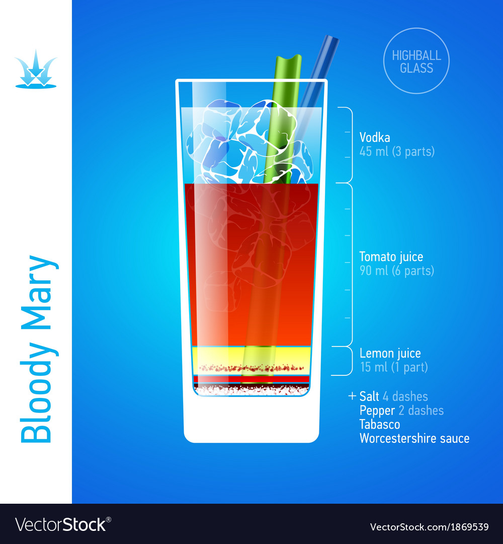 Bloody Mary cocktail vector image