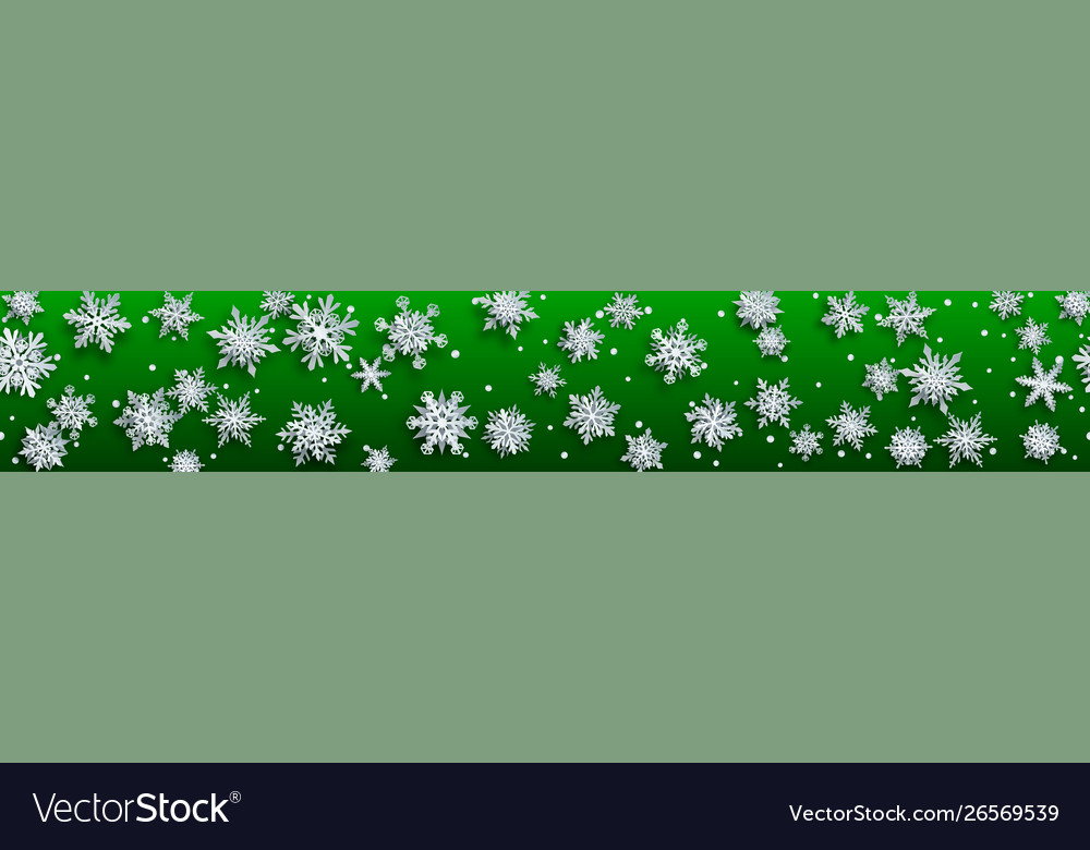 Christmas banner paper snowflakes