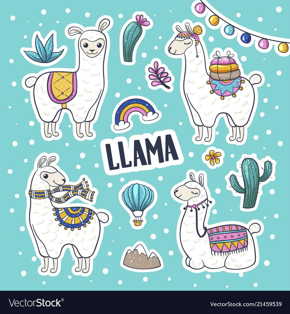 Llama hand drawn