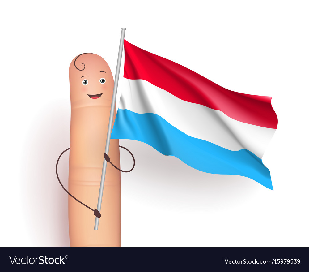 Luxembourg flag waving