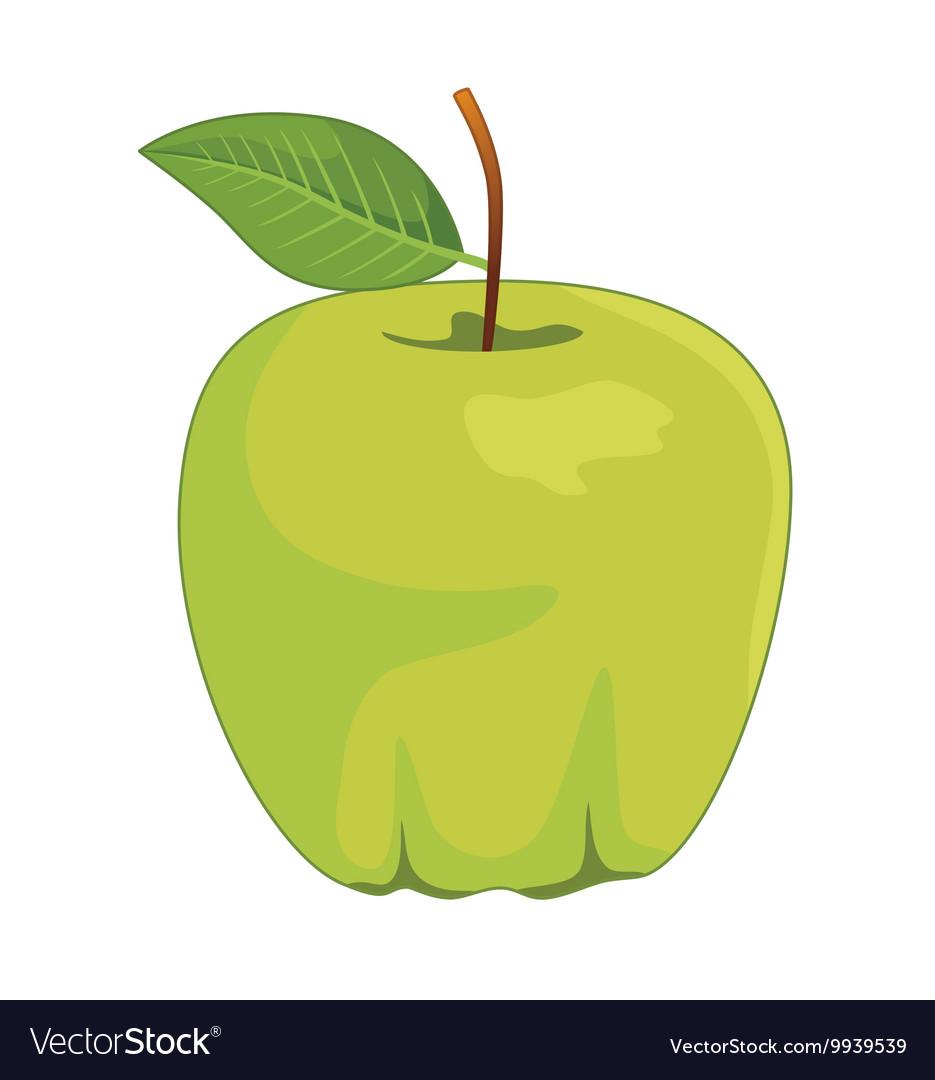 One full green apples