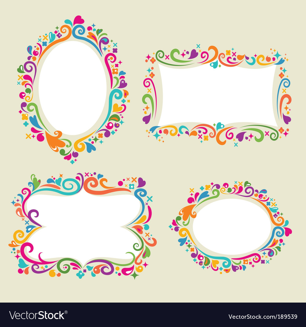 Retro card frame templates vector image