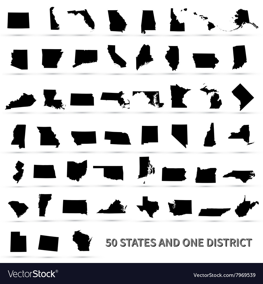 United States of America 50 states and 1 federal